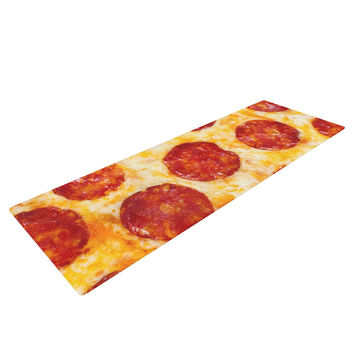"KESS Original ""Pizza My Heart"" Pepperoni Cheese Yoga Mat"