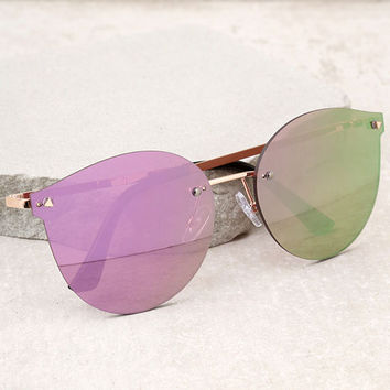 Candy Dreams Rose Gold and Pink Mirrored Sunglasses