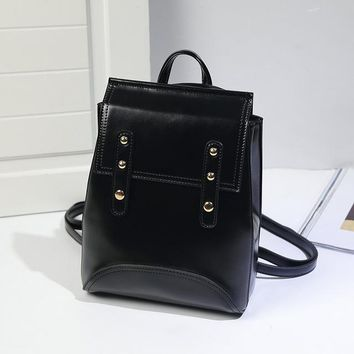 School Backpack trendy Fashion High Quality PVC Leather Backpacks Women Backpack European and American Style Girls Female School Bags BXLL2760 AT_54_4