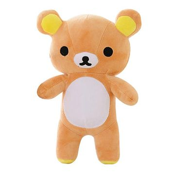 20CM Super Cute Soft Plush Lazy Bear Rilakkuma Bear Doll Birthday and Christmas Gift for Kids&Girls