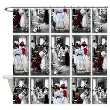 victorian women Shower Curtain