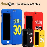 New! Sports Basketball Star Full Body Protector Case Cover for fundas iPhone 6  6S Plus Michael Jordan Air 23 kobe Bryant Curry