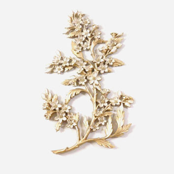 Gold Floral Wall Plaque