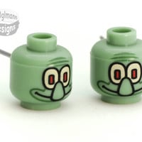 Last Pair Squidward Head Stud Earrings  made with by Gr0glmann