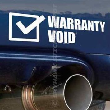 Warranty Void Funny Bumper Sticker Vinyl Decal Car Truck Sticker JDM for Honda