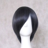 Dream2reality Cosplay_Kuroshitsuji(Black Butler)_Ciel_slim face_35cm_blue gray mix_Japanese kanekalon wigs