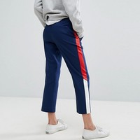 Tommy Hilfiger Denim Crop Pant with Contrast Stripe at asos.com