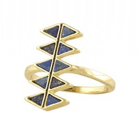 House of Harlow 1960 Jewelry Reflector Bar Ring