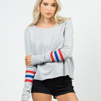 Varsity Sweater Top