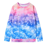 Harajuku japanese galaxy sweatshirt sweater