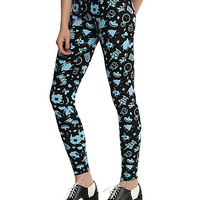Disney Alice In Wonderland Icons Print Leggings