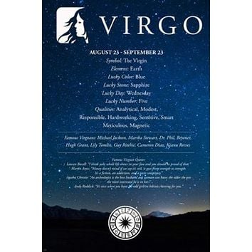 virgo description ASTROLOGY POSTER 24X36 qualities quotes FAMOUS PEOPLE new