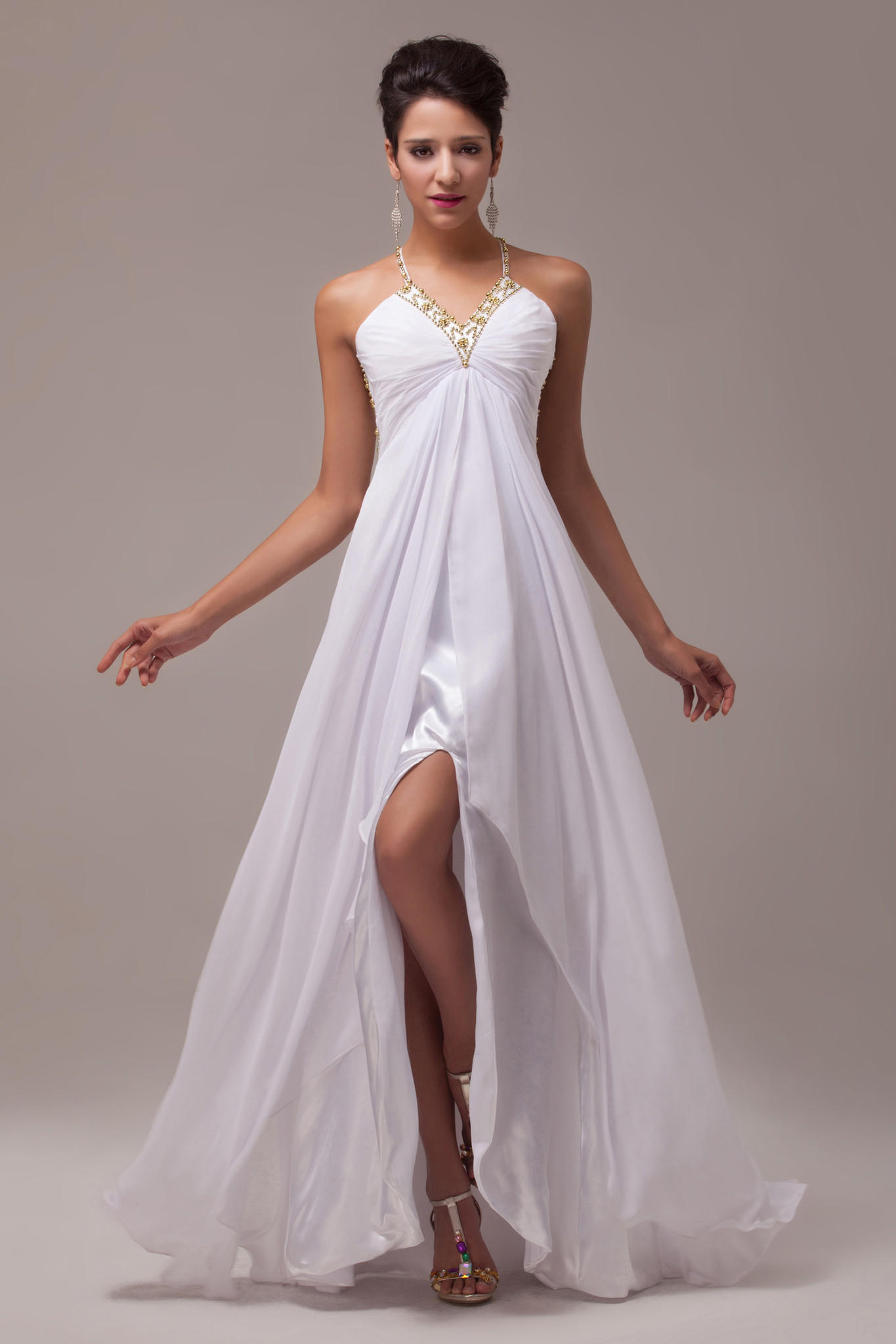 Collection White Chiffon Maxi Dress Pictures - Reikian