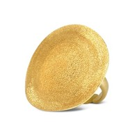 Stefano Patriarchi Designer Rings Golden Silver Etched Round Ring