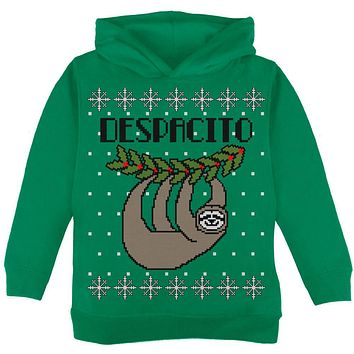 Despacito Means Slowly Sloth Funny Ugly Christmas Sweater Toddler Hoodie