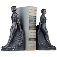 Park Avenue Collection Pair Of Elyse Art Deco Bookends