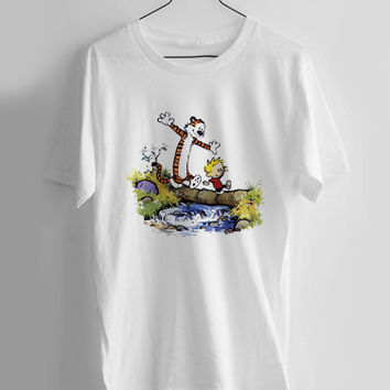 calvin and hobbes T-shirt Men, Women and Youth