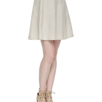 Loudivine Structured A-Line Skirt, Size: LARGE, SMOKEY QUARTZ - Joie