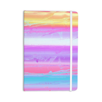 "Nina May ""Drip Dye Warm"" Purple Orange Everything Notebook"