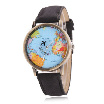 Newly Design Mini World Map Watch Men Women Gift Watches Unique Designer Fashion time Quartz Men clock dress watches
