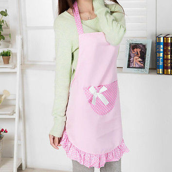 Hot Cute Girls Lady's Kitchen Restaurant Flirty Women's Cake Apron With PocketHU