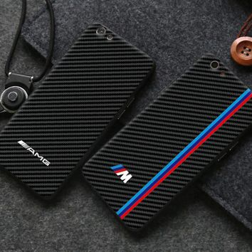 BMW carbon fiber phone case shell  for iphone 6/6s,iphone 6p/6splus,iphone 7/8,iphone 7p/8plus, iphonex