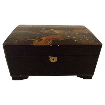 Pre-owned Large Japanese Jewelry/Music Box