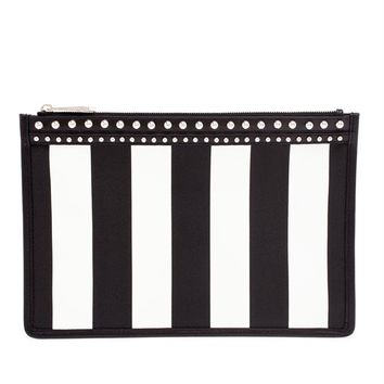 Small Striped Leather Pouch - GIVENCHY