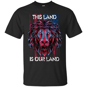 Patriotic T-Shirt USA Flat This Land, 4th of July Clothes