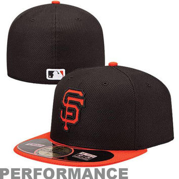 New Era San Francisco Giants Diamond Era  59FIFTY Fitted Hat - Black/Orange