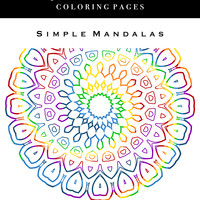 Adult Coloring Books - Simple Mandalas: Quick Print Coloring Pages
