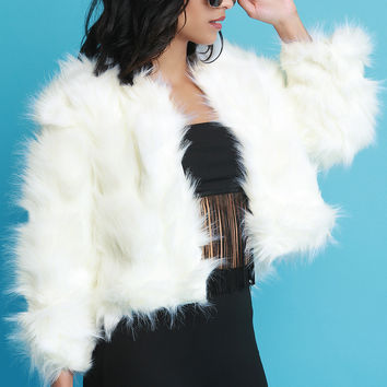 Fur Collarless Jacket | UrbanOG