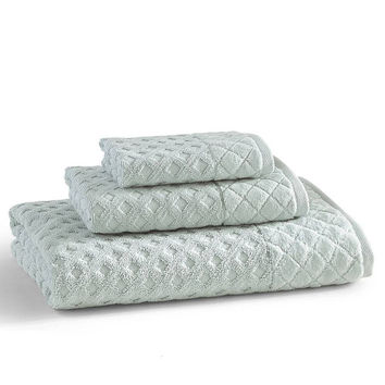 Diamant Towels S/3   Clearwater Blue