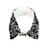 Queen B. Black Stone Collar