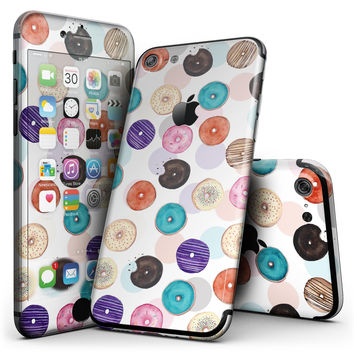 The Colorful Donut Overlay  - 4-Piece Skin Kit for the iPhone 7 or 7 Plus