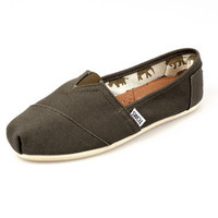 Men Women Soft Casual Canvas Summer Breathable TOMS Shoes Army Green Flats