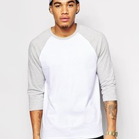 ASOS | ASOS 3/4 Sleeve T-Shirt With Contrast Raglan Sleeves at ASOS