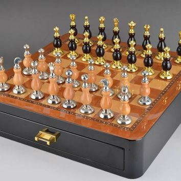 High-Quality Furniture Decoration With Unfoldable Wooden Chess Set