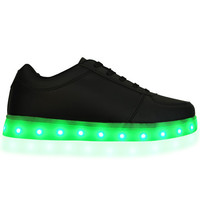 Light Up LED Shoes - All Black