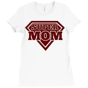 super mom 2 Ladies Fitted T-Shirt