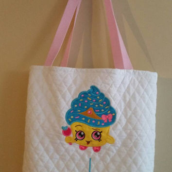 Tote Bag- Shopkins- Toy bag- Storage Bag- Embroidery Tote Bag