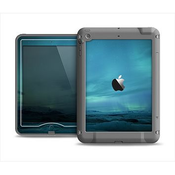 The Teal Northern Lights Apple iPad Air LifeProof Nuud Case Skin Set