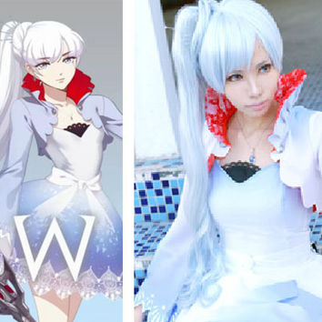 Weiss Schnee (White) Version 2 Custom RWBY Cosplay Costume