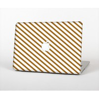 "The Brown & White Striped Pattern Skin Set for the Apple MacBook Pro 13"" with Retina Display"