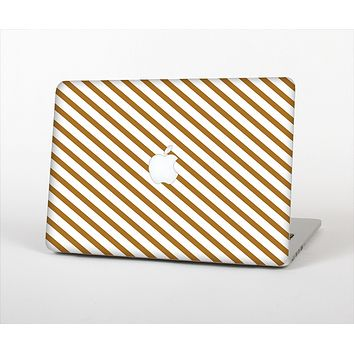 The Brown & White Striped Pattern Skin Set for the Apple MacBook Air 13""