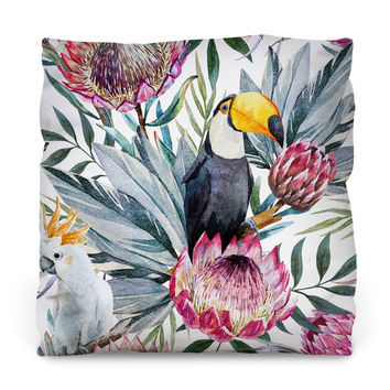 Sir Toucan Throw Pillow