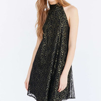 Ecote Paisley Lace Mock-Neck Dress - Urban Outfitters