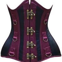 Daisy Corsets Top Drawer CURVY Satin Steel Boned Under Bust Corset