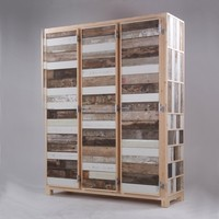 The Future Perfect - Three-Door Cupboard in Scrapwood - Storage