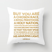 1 Peter 2:9 Throw Pillow by Cooledition